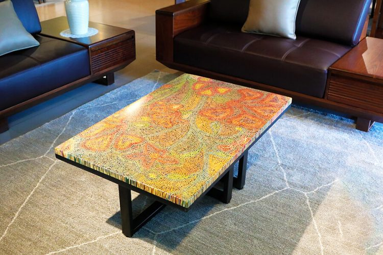 Wildflowers Colored-Pencil Coffee Table 3