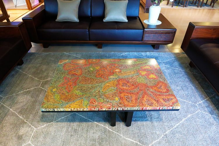 Wildflowers Colored-Pencil Coffee Table 4