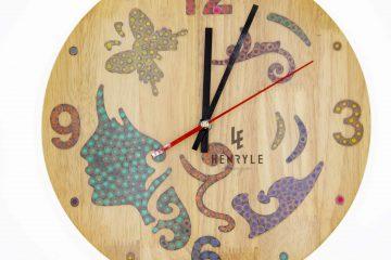 the fairy colored pencil wood wall clock 2
