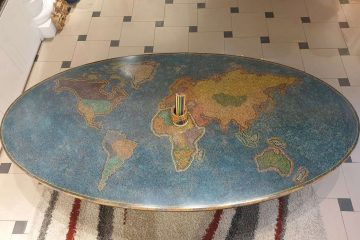 the world colored-pencil table
